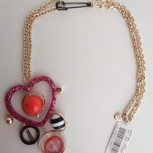 Betsey Johnson New Magenta/Black/Red Necklace